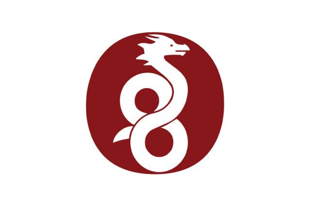 The WireGuard logo: A dragon atop a burgundy oval.
