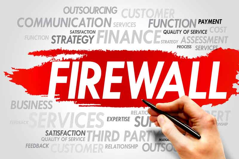 hand using marker to teach you what a firewall is