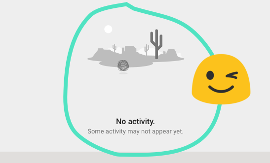 No activity will appear.