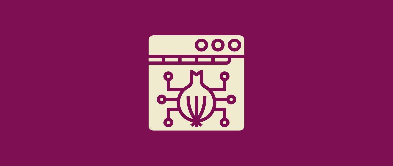 Onion with network symbols.