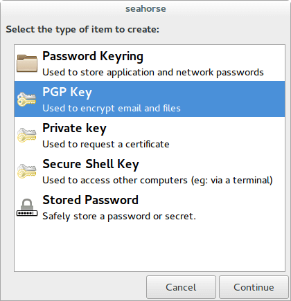 create a pgp key