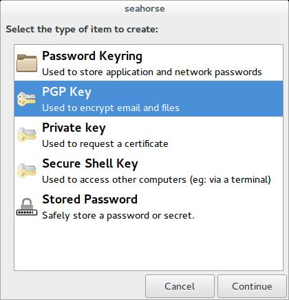 create a pgp key