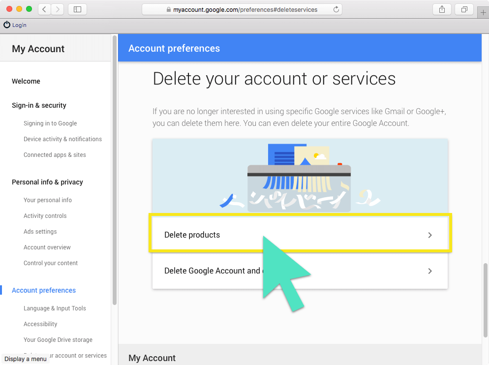 How to permanently delete your google gmail account click delete products ccuart Images