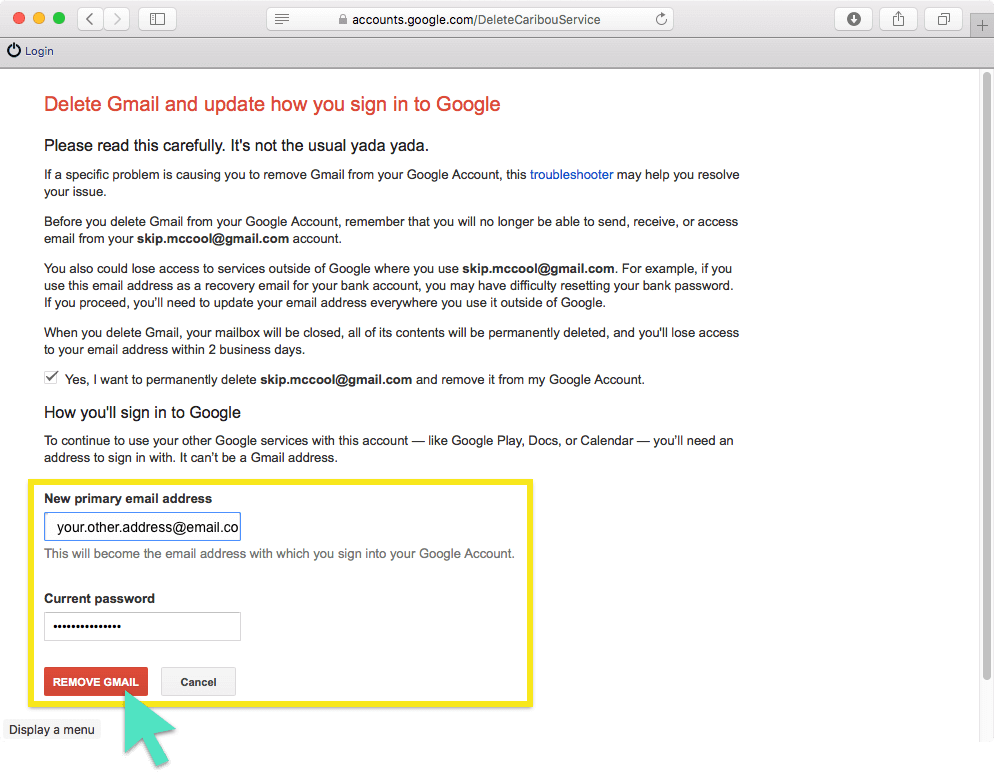 How to permanently delete your google gmail account click the big red button ccuart Images