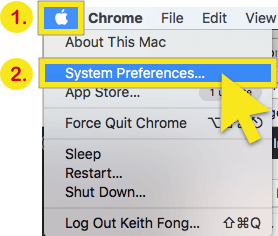 click on system preferences