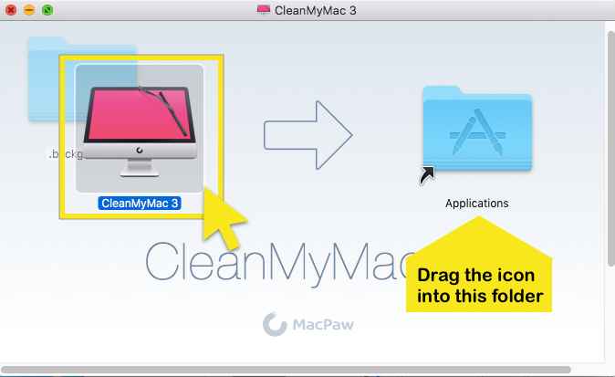 drag-cleanmymacdrag the cleanmymac3 icon