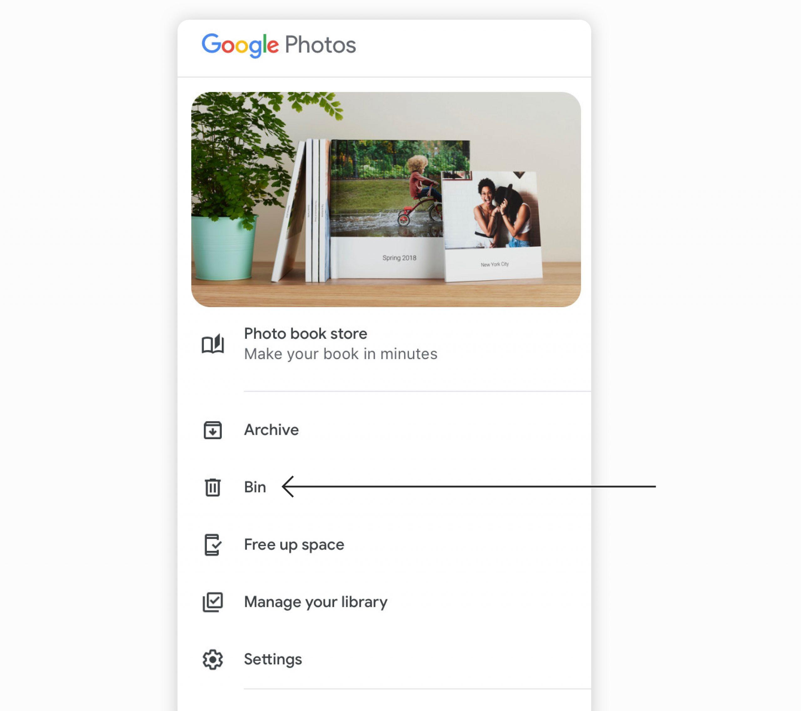 delete google photos
