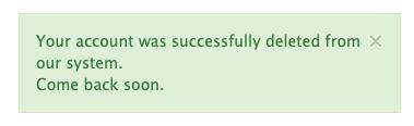 Successfully delete Telegram.