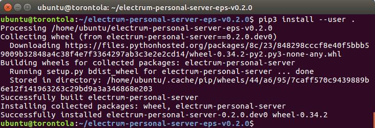 Command line screenshot