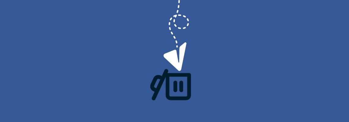 Telegram logo in trashcan. Learn how to permanently delete Telegram.
