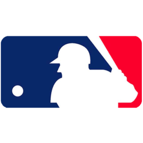 The red, white and blue logo of Major League Baseball.