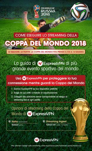 Info-grafica: tutti i modi per eseguire lo streaming della Coppa del Mondo 2018