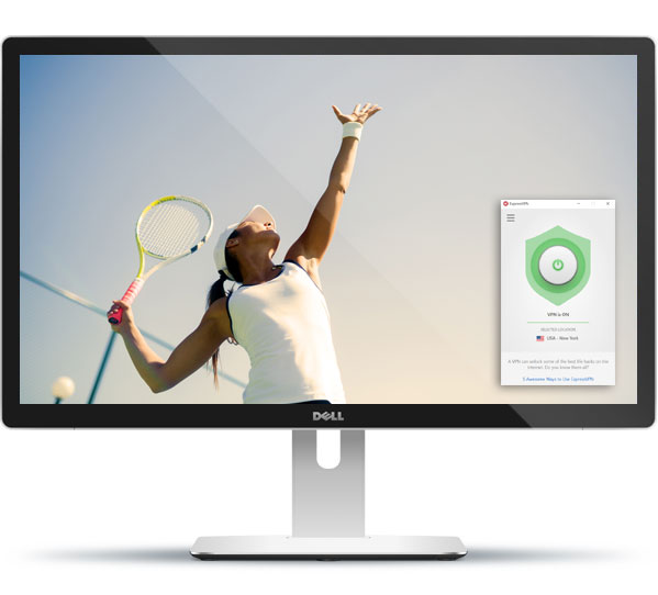 how to watch tennis with expressvpn