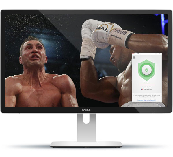 how to watch live boxing with expressvpn