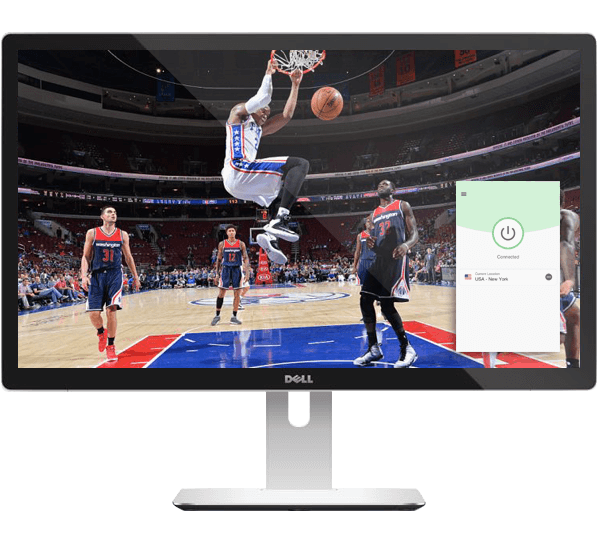 Live stream basketball with ExpressVPN.