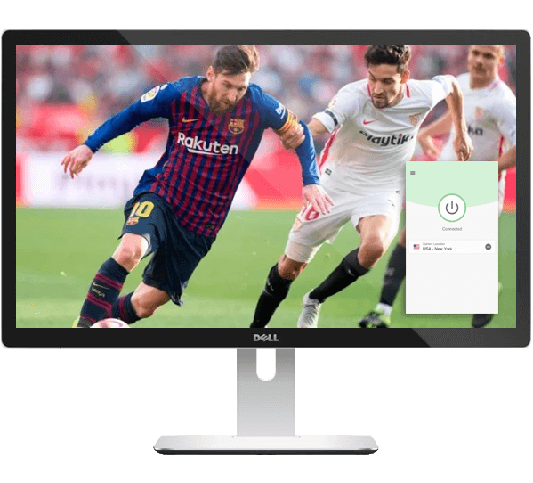 Watch live La Liga games on any device with ExpressVPN.