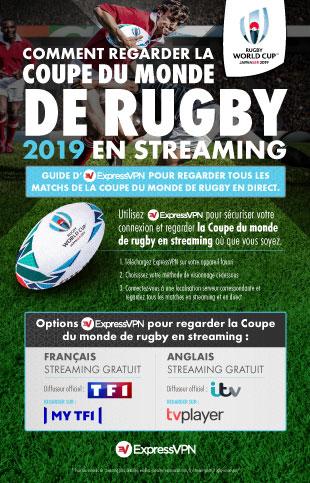Infographie : les meilleures façons de regarder la Coupe du monde de rugby 2019 en streaming