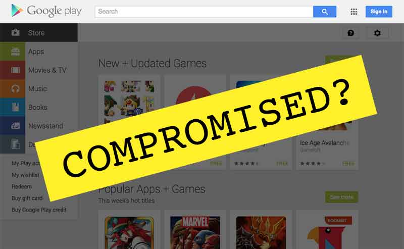 google play store compromised by nsa