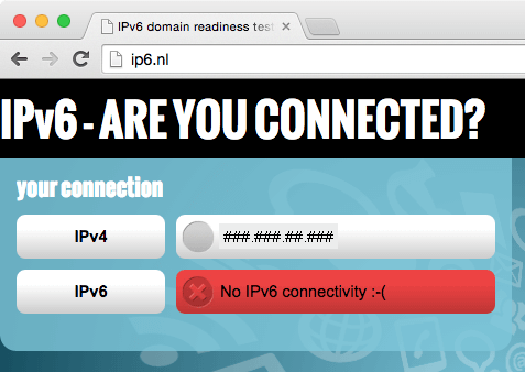 check if you are using ipv6
