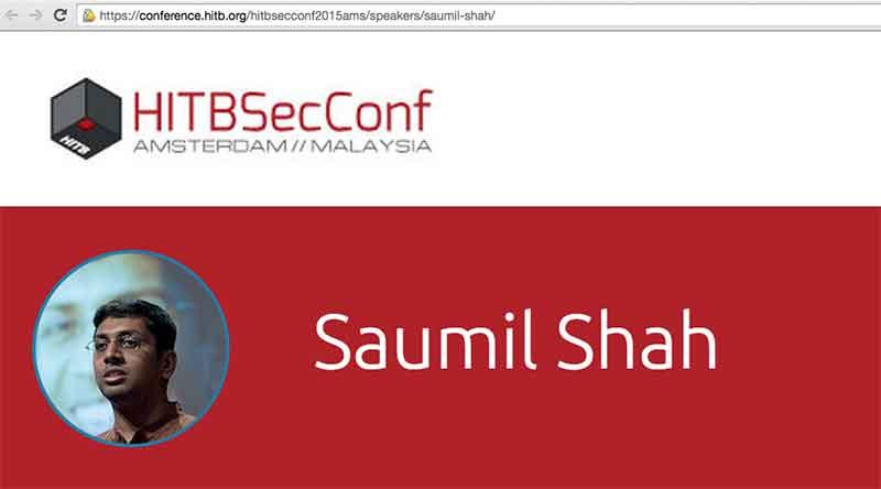 saumil shah screenshot