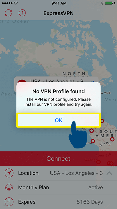 no vpn profile found