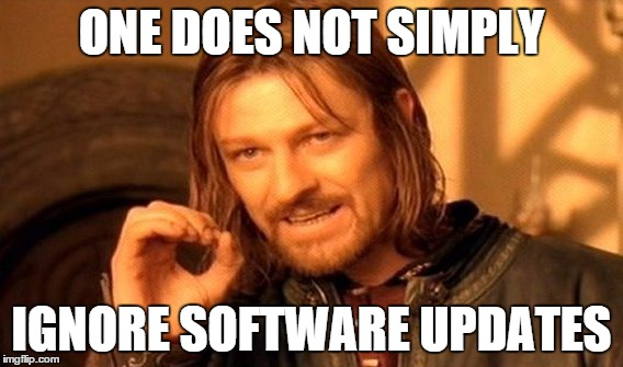 Don't ignore software updates