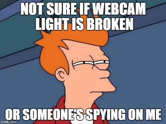 keep your webcam covered