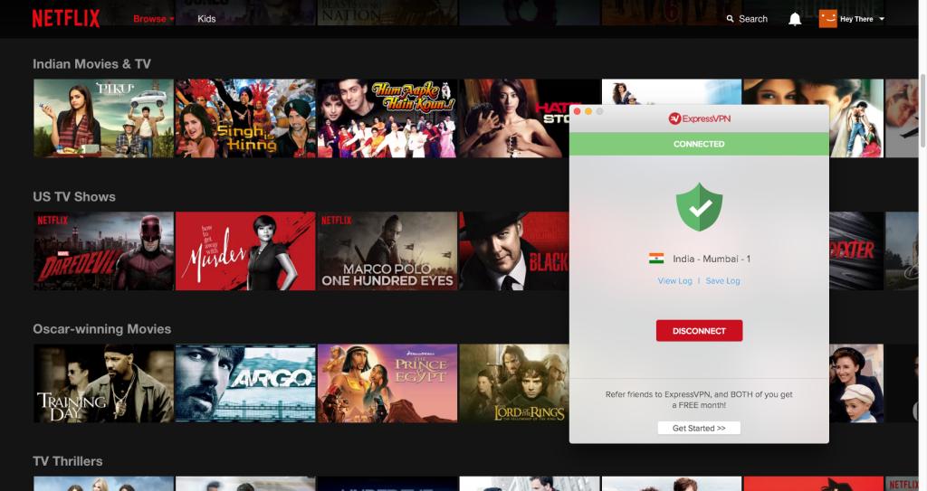 Indian Netflix with ExpressVPN