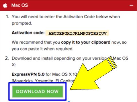 screenshot: download expressvpn 5.0 for mac