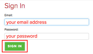 screenshot: sign in to your account