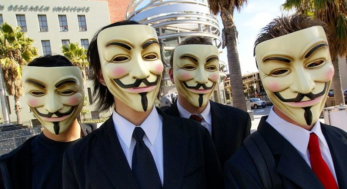 Anonymous taking to the streets to protest