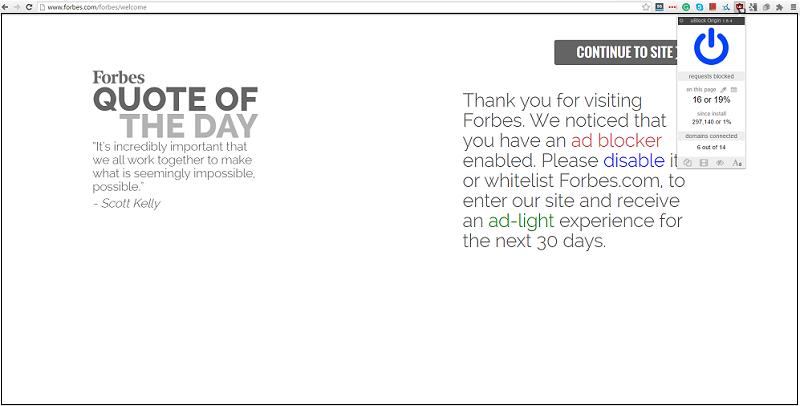 forbes homepage blocking ad blockers