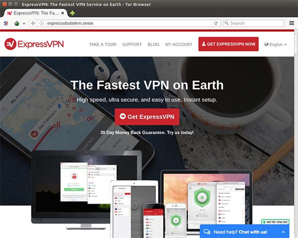 ExpressVPN Launches Tor Onion Service: Expressobutiolem onion