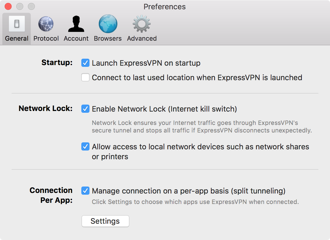 VPN split tunneling for Mac