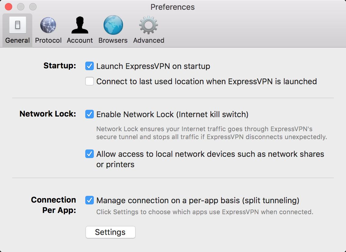 VPN split tunneling for Mac