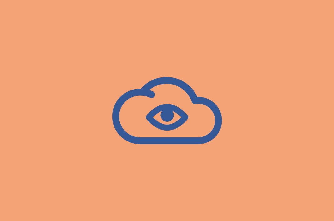 Eye in a cloud.