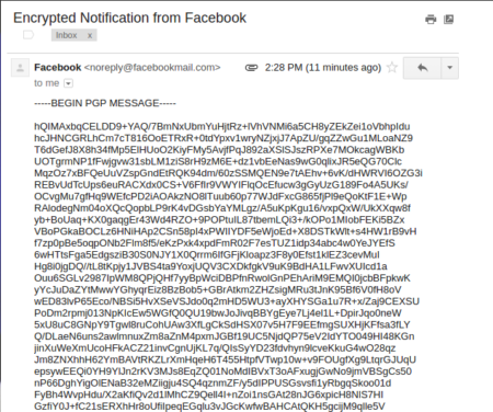 Facebook PGP key