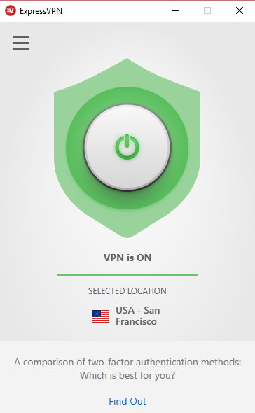 Quickly connect to ExpressVPN with one button.