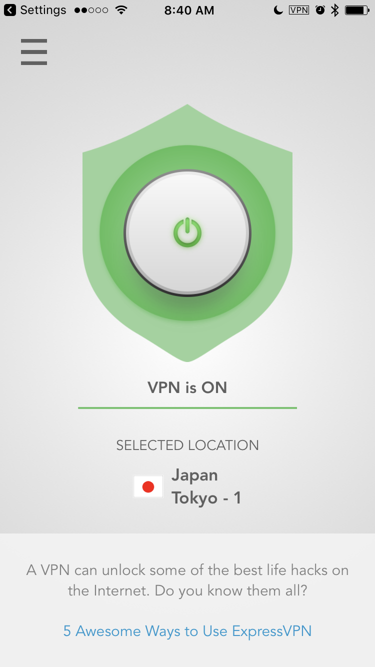 ExpressVPN for iOS has a better connection.