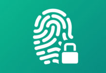 Digital fingerprint with a padlock