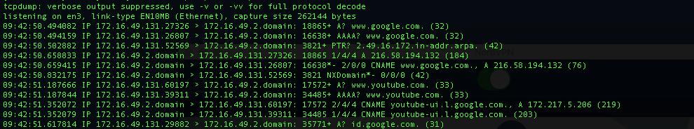 DNS Leak traffic