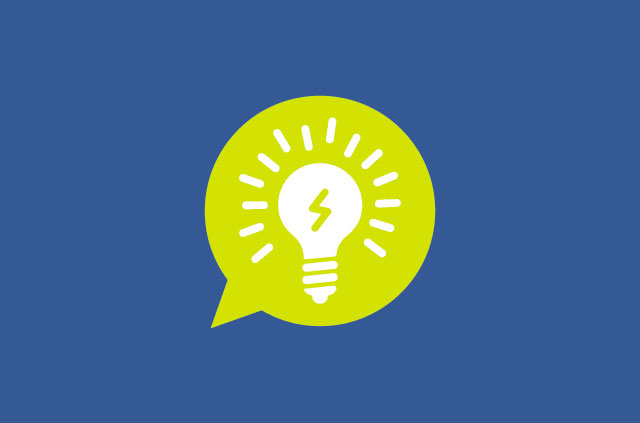 A light bulb in a speech bubble, which somehow means internet privacy?