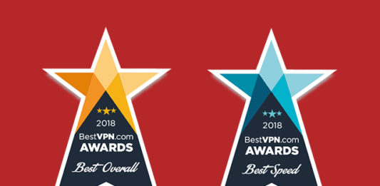 ExpressVPN won the overall best VPN in the BestVPN.com awards