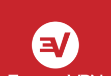 ExpressVPN logo red and white