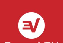 ExpressVPN logo red and white