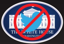 White House logo with blocked Twitter image