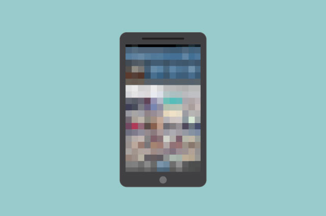 Something to hide: A pixelated iPhone