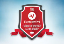 The ExpressVPN Scholarship logo. It looks a bit like a school badge.