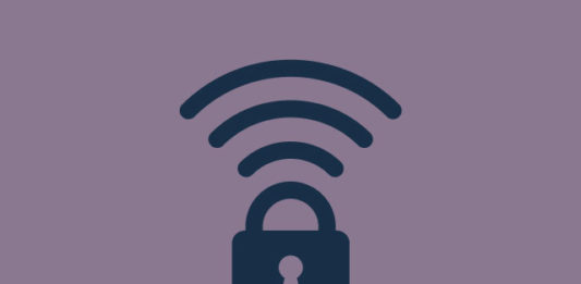 A padlock with a Wi-Fi symbol.