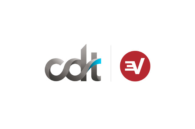 The CDT logo next to the ExpressVPN logo.